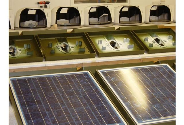 Solar panels galore and assembly development – 4,000 off in total.