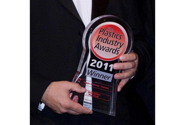 Winning our first Plastics Industry Award for Toolmaker of the Year, 2011.