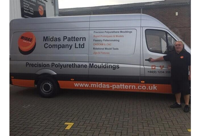 Midas invests in new Mercedes Sprinter van to ensure the safe delivery of mouldings